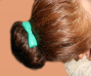 Top it off with some cute hair clips or pins