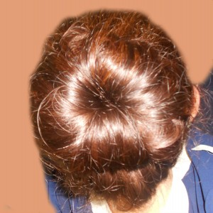 Sock Bun Tutorial - 12a
