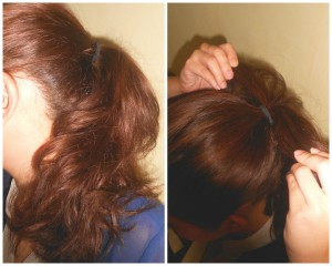 Tie your hair into a ponytail